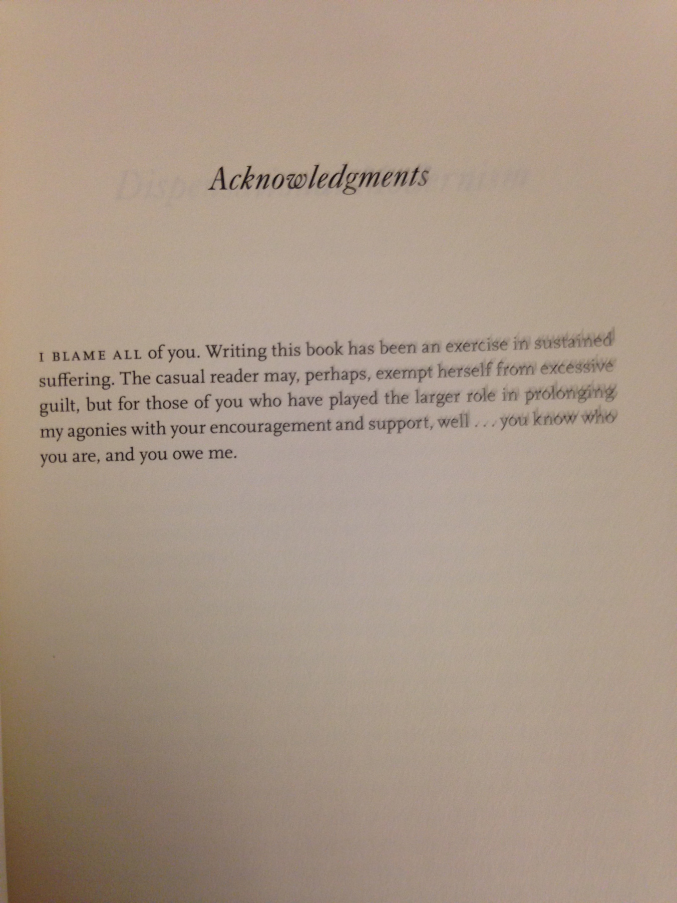 funniest thesis acknowledgements