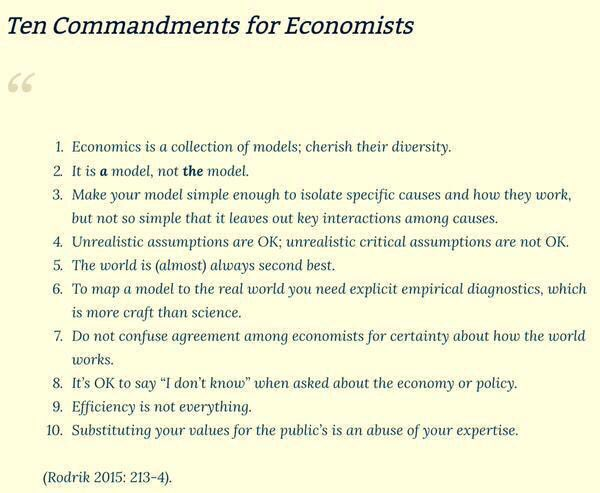 10 Commandments of Economists